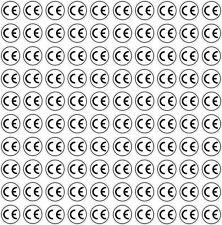 CE Zeichen Aufkleber 8 mm bis 50 mm / 10 bis 1000 Stück UV + Witterungsbeständig