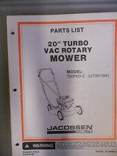 "Homelite Parts List Manual 20"" Turbo Rotary Mower T20PSD-2"