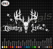 Country LIfe hunting deer decals window pillar stickers back glass trucks diesel