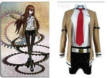Steins/Gate Makise Kurisu Uniform Cosplay Costume Customized :CV