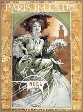 Noel 1903 Art Nouveau Paris Illustre Magazine Vintage Poster Print Retro Mucha
