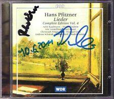 Robert HOLL & Iris VERMILLION Signed PFITZNER Lieder 4 Pregardien Schmidt CPO CD