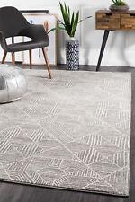 OASIS457 ASH GREY Modern Rug Large Floor Mat Carpet  *FREE DELIVERY*