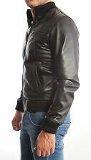 PROMOZIONE Giacca Giubbotto in Pelle Uomo Men Leather Jacket Veste 3sx 52