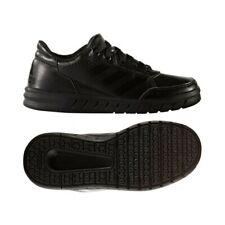 Adidas Alta sport Kids Shoes Boys School Lace up Black Trainers Altasport