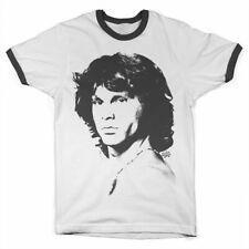 Officially Licensed Jim Morrison Portrait Ringer T-Shirt S-XXL Sizes