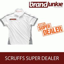 SCRUFFS WHITE ACTIVE PRO ZIP POLO Hardwearing Work Shirt