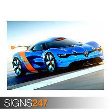 RENAULT ALPINE CONCEPT CAR (0264) POSTER STAMPA ARTE A0 A1 A2 A3-seconda metà prezzo!