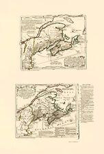 Old Canada Map - Nova Scotia Acadia - Jeffreys 1713 - 23 x 33.93