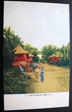 PHILIPPINES*CEBU*OLD PC*SAN NICHOLA*Village scene* # 50