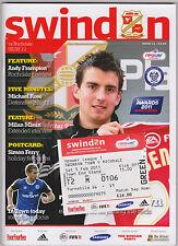 Football Programme plus Match Ticket>SWINDON TOWN v ROCHDALE Feb 2011