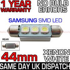 43mm 44mm 3 SAMSUNG SMD LED 264 C5W CANBUS ERROR WHITE NUMBER PLATE LIGHT BULB