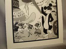 Speedy Gonzales and Sylvester dance at Cinco De Mayo Looney Tunes artist display
