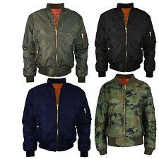 Womens Ladies Biker Celebrity MA1 Camouflage Army Print Bomber Jacket Size S XL