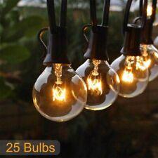 25 Clear Wedding String Fairy Light Globe Festoon Bulb String Light Outdoors