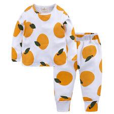 Toddler Baby Girls Kids Boys Sleepwear Fruit Pajamas Clothes Underwear Outfit