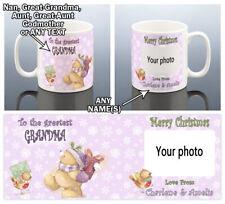 XMAS BEAR PHOTO MUG Christmas Gift Her Women Aunt Stepmum Grandma Nana Present