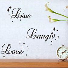 Live Laugh Love Quote Star Bubble Wall Art Vinyl Decal Window Decoration Sticker