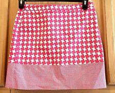 Michael Kors Radiant Pink Houndstooth Blocked Stretch Cotton Mini Skirt - $69.50