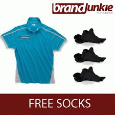 SCRUFFS BLUE ACTIVE PRO ZIP POLO Hardwearing Work Shirt + FREE SOCKS