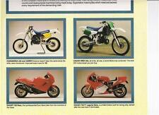1988 Ducati Paso 750 F-1 Cagiva Elefant Husqvarna 430AE all models poster advert