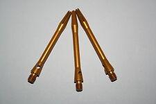 Short Medium Gold Aluminium Dart Stems / Shafts Approx 45mm