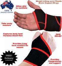 Austodex weight lifting fitness wrist support gym brace thumb bar wraps straps