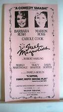 STEEL MAGNOLIAS Herald BARBARA RUSH / MARION ROSS / CAROLE COOK Tour 1989