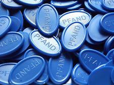 Pfandmarken Wertmarken Getränkemarken oval - Farbe: blau | Mengen wählbar