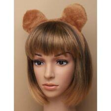 CUTE BROWN SOFT FURRY TEDDY BEAR EARS ALICEBAND HEADBAND ANIMAL ZOO FANCY DRESS