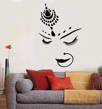 Vinyl Wall Decal India Hindu Bride Girl Beautiful Face Piercing Stickers 1804ig