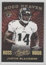 2013 Panini Absolute Hogg Heaven Boss #25 Justin Blackmon Jacksonville Jaguars