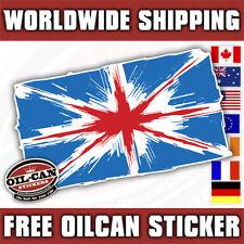 grunge union jack flag, mini land rover sticker / decal 125mm x 75mm