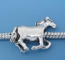 NUOVO Tono Argento RUNNING WILD Horse Charm Perline si adatta maggior parte europea Bracciale con Charm