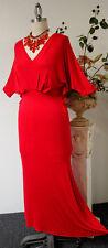 Gorgeous Fit Long Kaftan Dress, Maxi Dress in Solid Red  S,M,L