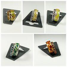 PILGRIM Ring, Fingerring, Blüte, Schmuck, Modeschmuck, Türkis, Lachs, Grün, Rot