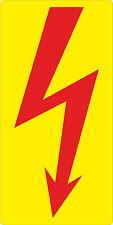 Aufkleber Blitz Elektroblitz Steuerung Schaltschrank Abzeigdose Strom 30 x 15 mm