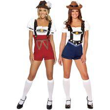 Beer Girl Costume Adult German Lederhosen Oktoberfest Fancy Dress