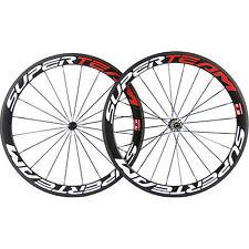 SUPERTEAM Clincher Carbon Wheelset 50mm Carbon Road Bike Wheels R39 Race Bicycle
