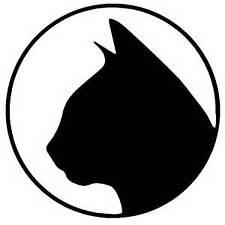 "CAT CIRCLE  Vinyl STICKER DECAL  ""Buy 2 get 1 Free"""