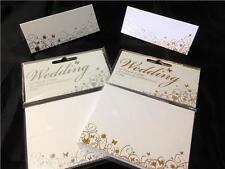 confezione da 10 carta di matrimonio segnaposti argento o oro farfalla &