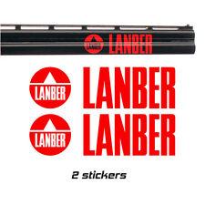 2x LANBER Vinyl Decal Sticker. 9 colours