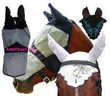 Fliegenmaske-Fliegenohren-Fliegenhaube-Gesichtsmaske mit Name, Buchstabe.o.Ranke