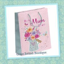 """""""Best Mum Ever"""" gift Bag - Medium( 22cm x 18cm) 0r Small (15.5cm x 15.5cm) - ..."""