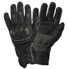 Rayven Ladies Race-Pro Motorbike Motorcycle Gloves Black Carbon Fibre Protection