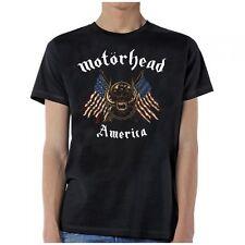 Motorhead American Warpig Flags Skull Heavy Metal Rock Music Mens Shirt MHD10154