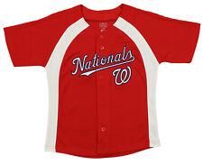 Outerstuff MLB Youth Boys Washington Nationals Blank Baseball Jersey, Red