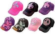 Rhinestone Bling Fashion Women Military  Vintage Scout Baseball Cap Hat