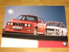 BMW M3 E30 POSTER 29 - 2 x M3 STRAßE & RENNWAGEN - RAR / ORIGINAL VINTAGE MINT