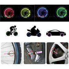2 x LED lampada flash COPERTONE RUOTA VALVOLA CAPPELLO LUCE PER AUTO bicicletta#